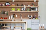 Фото 44 Коричневая кухня: оформление интерьера в шоколадных оттенках и 85 теплых и уютных воплощений