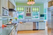 Фото 6 Короткие шторы на кухню: 75+ утонченных интерьерных решений для кухни и столовой зоны