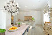 Фото 7 Короткие шторы на кухню: 75+ утонченных интерьерных решений для кухни и столовой зоны
