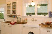 Фото 14 Короткие шторы на кухню: 75+ утонченных интерьерных решений для кухни и столовой зоны