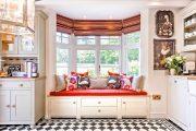 Фото 32 Короткие шторы на кухню: 75+ утонченных интерьерных решений для кухни и столовой зоны