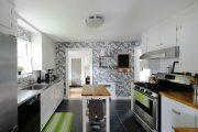 Фото 35 Короткие шторы на кухню: 75+ утонченных интерьерных решений для кухни и столовой зоны
