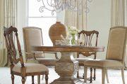 Фото 30 Круглый деревянный стол на одной ножке: 125+ моделей для тех, кто не привык выбирать между эстетикой и функциональностью