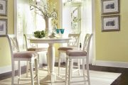 Фото 40 Круглый деревянный стол на одной ножке: 125+ моделей для тех, кто не привык выбирать между эстетикой и функциональностью
