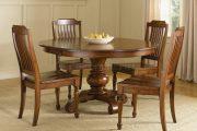 Фото 5 Круглый деревянный стол на одной ножке: 85 моделей для тех, кто не привык выбирать между эстетикой и функциональностью