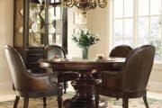 Фото 62 Круглый деревянный стол на одной ножке: 125+ моделей для тех, кто не привык выбирать между эстетикой и функциональностью