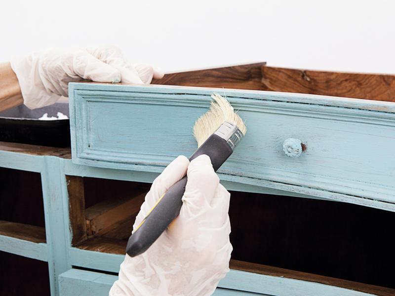 Как сделать патина на мебели