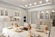 Фото 1 Кухня в стиле арт-деко: тонкости гармоничного интерьера и 75 избранных фотоидей на любой вкус
