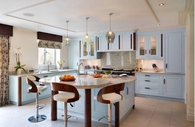 Арт-деко: микс классики и модерна в интерьере кухни