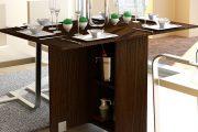 Фото 2 Раскладные столы для маленькой кухни: как оптимизировать кухонное пространство и обзор наиболее удобных современных моделей