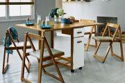 Фото 4 Раскладные столы для маленькой кухни: как оптимизировать кухонное пространство и обзор наиболее удобных современных моделей
