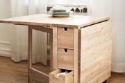 Фото 8 Раскладные столы для маленькой кухни: как оптимизировать кухонное пространство и обзор наиболее удобных современных моделей