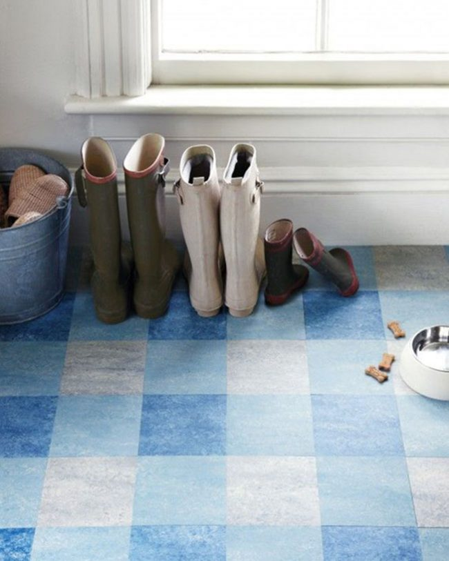 Линолеум с рсунком под шахматное ковровое покрытие