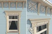 Фото 8 Наличник на окна в деревянном доме: декоративное украшение фасада и 70+ оригинальных примеров