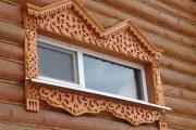 Фото 29 Наличник на окна в деревянном доме: декоративное украшение фасада и 70+ оригинальных примеров
