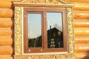 Фото 53 Наличник на окна в деревянном доме: декоративное украшение фасада и 70+ оригинальных примеров