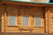 Фото 54 Наличник на окна в деревянном доме: декоративное украшение фасада и 70+ оригинальных примеров
