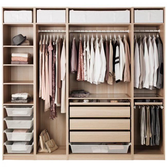 Наполнение шкафов-купе: фото с размерами и грамотное распределение вещей в шкафу по длине и частоте пользования