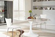 Фото 26 Овальные столы для кухни: тонкости выбора и 80+ комфортных моделей для дома