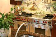 Фото 3 Панно из плитки на кухню: 110+ ярких фото идей для декора фартука и кухонной отделки