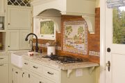 Фото 35 Панно из плитки на кухню: 110+ ярких фото идей для декора фартука и кухонной отделки