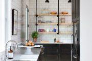 Фото 19 Плитка кабанчик на фартук кухни: виды облицовки и 80 трендовых кухонных интерьеров