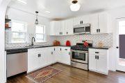 Фото 26 Плитка кабанчик на фартук кухни: виды облицовки и 80 трендовых кухонных интерьеров