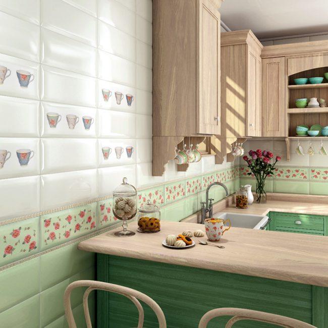 Плитка кабанчик на фартук кухни: cочетание оттенков кухонного гарнитура с настенным покрытием итальянского бренда