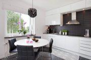 Фото 2 Плитка кабанчик на фартук кухни: виды облицовки и 80 трендовых кухонных интерьеров