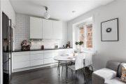 Фото 24 Плитка кабанчик на фартук кухни: виды облицовки и 80 трендовых кухонных интерьеров
