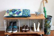 Фото 1 Полки для обуви в прихожую: 70 потрясающих идей для коридора своими руками