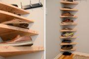 Фото 6 Полки для обуви в прихожую: 70 потрясающих идей для коридора своими руками