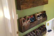 Фото 30 Полки для обуви в прихожую: 70 потрясающих идей для коридора своими руками
