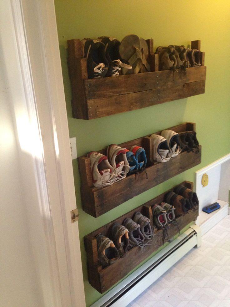Полочки для обуви в прихожей своими руками 914