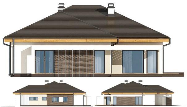 Как будет выглядеть дом с разных сторон участка: детальное изображение. Еще подробнее размеры и устройство стен из пеноблоков опишут развертки