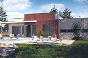 Фото 5 Проекты домов из пеноблоков с гаражом: специфика конструкций и 60+ готовых комфортабельных вариантов