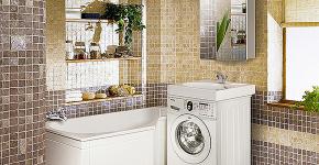 Раковина над стиральной машиной: особенности установки и 70 продуманных решений для функциональной ванной комнаты фото