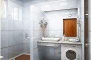 Фото 7 Раковина над стиральной машиной: особенности установки и 85+ продуманных решений для функциональной ванной комнаты (2019)