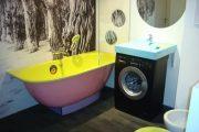 Фото 2 Раковина над стиральной машиной: особенности установки и 70 продуманных решений для функциональной ванной комнаты
