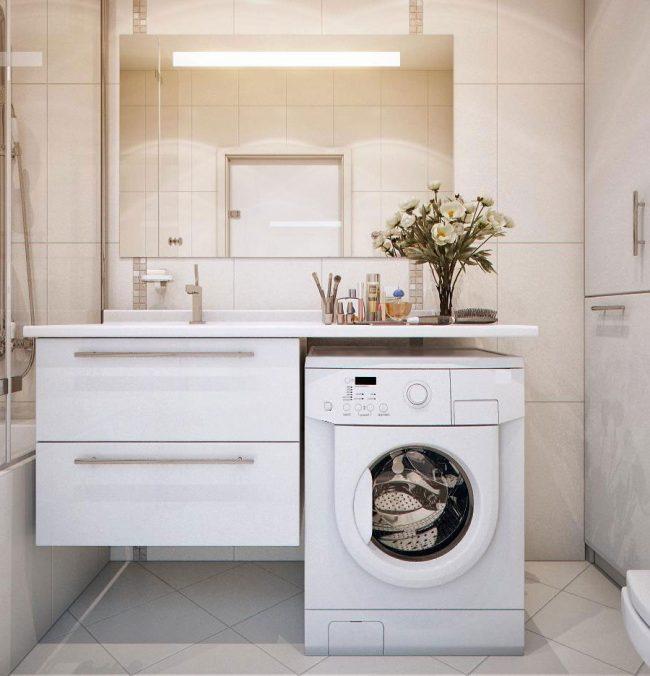 Столешница для ванной под стиралку шириной 400 Кухонные столешницы искуственный камень Вышегород
