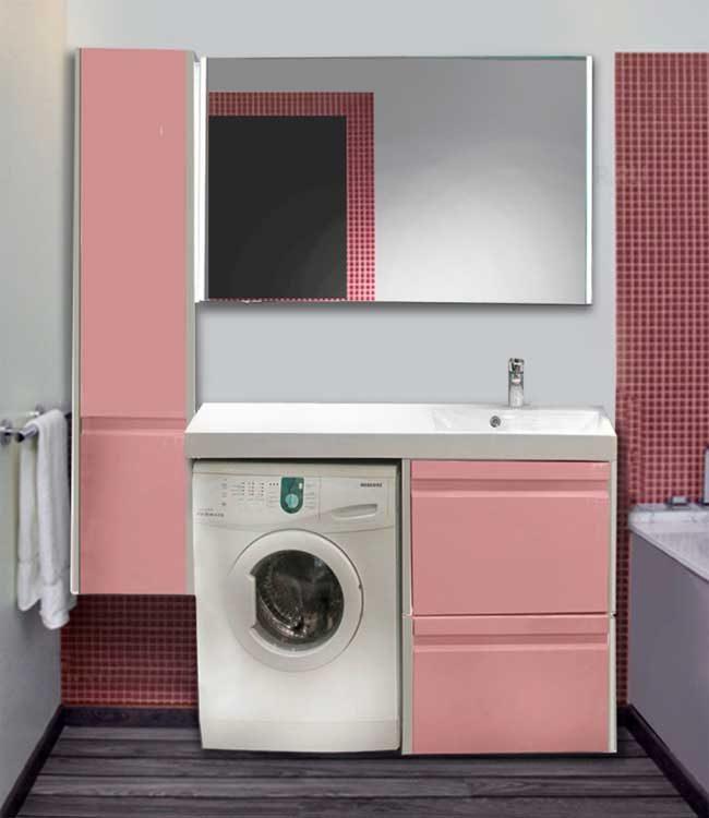 Столешница со встроенной раковиной возле стиральной машины