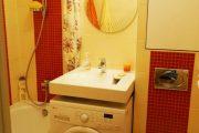 Фото 13 Раковина над стиральной машиной: особенности установки и 85+ продуманных решений для функциональной ванной комнаты (2019)