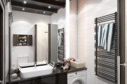 Фото 20 Раковина над стиральной машиной: особенности установки и 70 продуманных решений для функциональной ванной комнаты