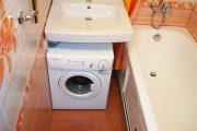 Фото 27 Раковина над стиральной машиной: особенности установки и 85+ продуманных решений для функциональной ванной комнаты (2019)