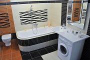 Фото 33 Раковина над стиральной машиной: особенности установки и 85+ продуманных решений для функциональной ванной комнаты (2019)