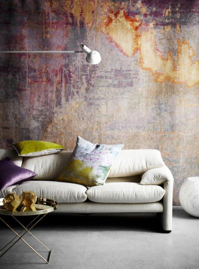Штукатурка короед: фото - дизайнерское оформление внутренних стен декоративной штукатуркой