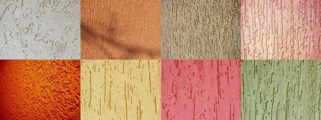 """Разновидность цветовых и фактурных решений декоративной штукатурки """"короед"""""""