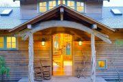 Фото 15 Обшитые сайдингом под бревно и кирпич дома: 75 практичных и доступных реализаций отделки
