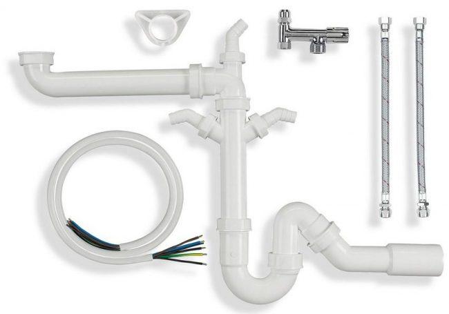 Сифон для раковины на кухню: трубный сифон с комплектом для подключения к кухонной раковине