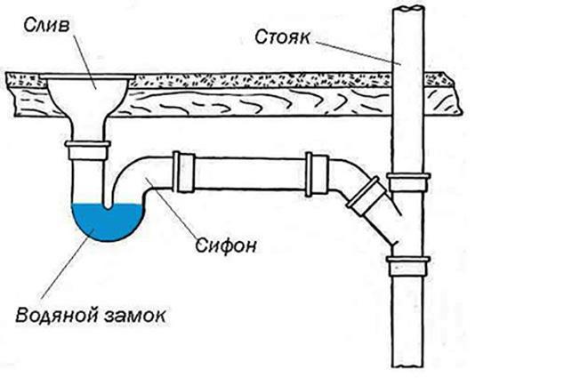 Гидрозатвор для канализации в бане своими руками